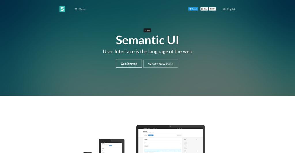 best CSS frameworks: Semantic UI