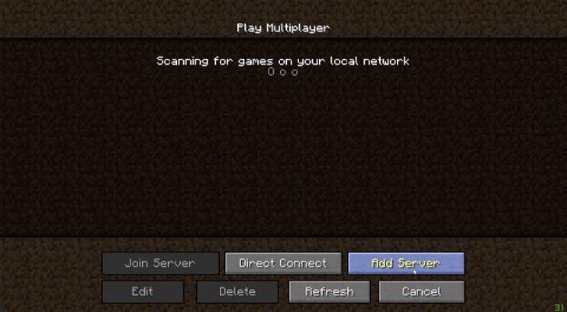 Adding your Minecraft server
