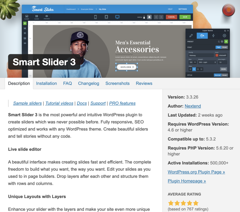 10 must-have wordpress plugins for 2020: smart slider 3