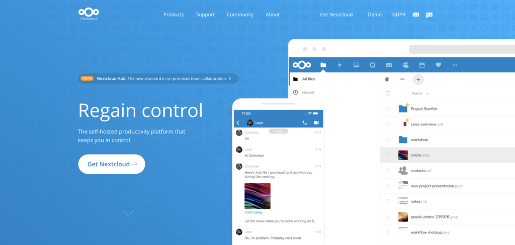 COVID-19: Back Up Your Work On the Cloud. Nextcloud Server
